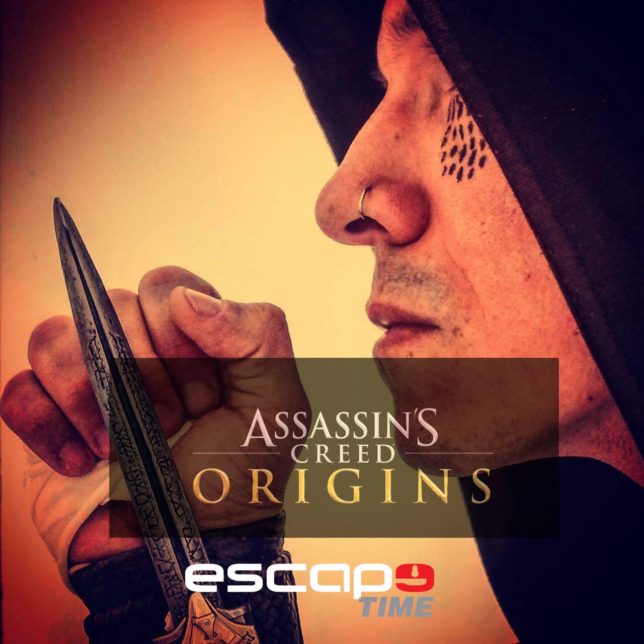 "Escape Time apresenta a sala ""Assassin´s Creed – Origins"""